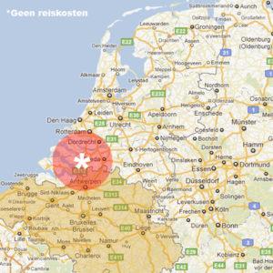 reiskosten nederland kaart belgie landkaart
